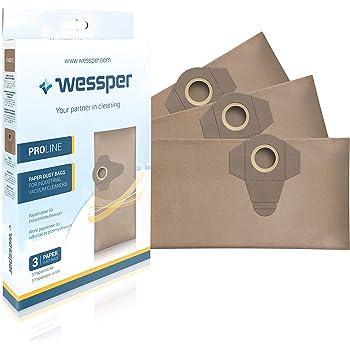 Wessper® Bolsas de aspiradora para Einhell TE-VC 1820 1250 RT-VC ...