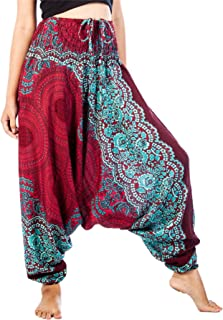 Harem Yoga Pants for Women Boho Hippie Bohemian Aladdin Genie Jumpsuit