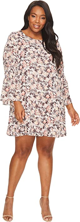B Collection by Bobeau - Plus Size Jude Flare Sleeve Dress