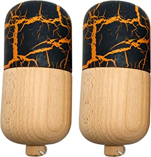 2 PACK - KENDAMA TOY CO. - The Best Kendama Pill For All Kinds Of Fun - Awesome Colors: Wood, Black/Red (top) and Black/Gold (top) Kendama Pill Set - Solid Wood - A Tool To Create Better Hand And Eye Coordination