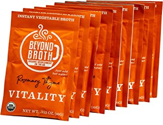 Beyond Broth - Instant Vegan Sipping Broth (Vitality, 9 Pack) - Organic Vegetable Broth Powder For On The Go Or Cooking - Keto, Paleo, and Whole30 Friendly
