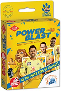 KAADOO Power Blast-CSK Cricket Match Card Game and Collectible for 6+ Year Olds - Proudly Made in India (2-6 players)