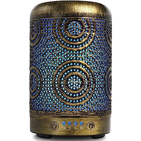 Metall Diffusor f/ür /Ätherische /Öle SALKING Aroma Diffuser mit Rosen /Ätherische /Öle Automatisch Power-Off Duftlampe f/ür Zuhause B/üro Yoga BPA-Free Aromatherapie Diffusor mit Einstellbarem Nebelmodus