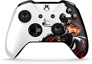 Dreamcontroller Xbox One Non-Modded Controller - Customized Design with Anti-Slip Soft Grip - Great for Gaming Competitions and Tournaments - Bluetooth for Windows 10 PC(Red Dead Redemption Cartoon)