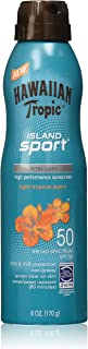Hawaiian Tropic Island Sport Sunscreen Spray, Easy to Apply, Broad-Spectrum Protection, SPF 50, 6 Ounces