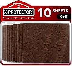 Meubilair Pads Vloerbeschermers X-PROTECTOR 6 Vilten Vellen 20x15cm - Vilten Pads voor Stoelpoten - Premium Meubilair Vilt...