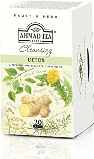 Ahmad Tea Fruit and Herb Cleansing Detox 20 Foil Teabags (Pack of 6) (1366/1111)
