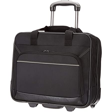 Amazon Basics Laptop bag with quick-rolling wheels and easy-access front pocket - fits Laptops up to 16 inch (40 cm)
