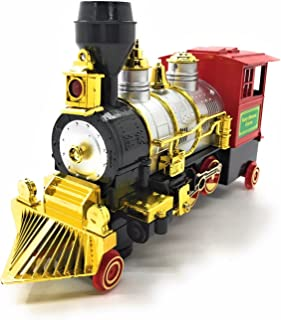 O.B Toys&Gift Bump & Go Classical Train Battery Operated Toy Locomotive w/Lights, Sound & Bump and Go Action, Kids Christmas Train