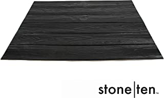 Faux Wood Wall Panels - Peel and Stick Foam Wood Paneling - 3D Wall Panels for Fake Wood Wall - 3D Wood Wallpaper - Self Adhesive Wood Look Wall Panels - (Black 10 Pack)