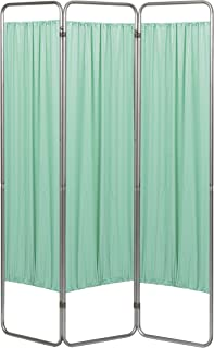 Omnimed 153093-15 Economy Privacy Screen with Vinyl Panels, Green, 3 Section