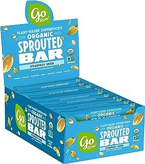 Go Raw Pumpkin Seed Bars | Gluten Free Snacks | Vegan | Organic | Paleo | Superfood (20 Large Bars)