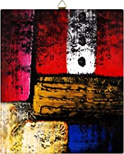 Story at Home Modern Abstract Art Framed Wall Painting Frame - Canvas, 28 x 24 cm, Red