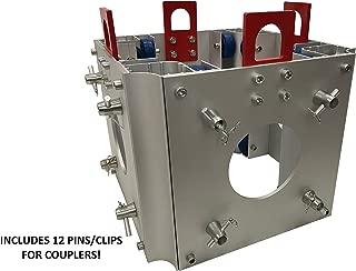 Square Box Truss 12 Inch Square Lighting Box Truss F34 Standard Sleeve Block Square Box Truss Ground Aluminum 290mm.x290mm.