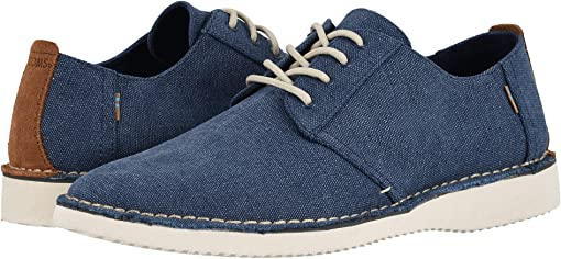Navy Washed Canvas/Stitch Out