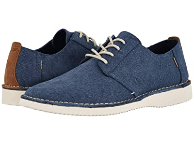 TOMS Preston (Navy Washed Canvas/Stitch Out) Men