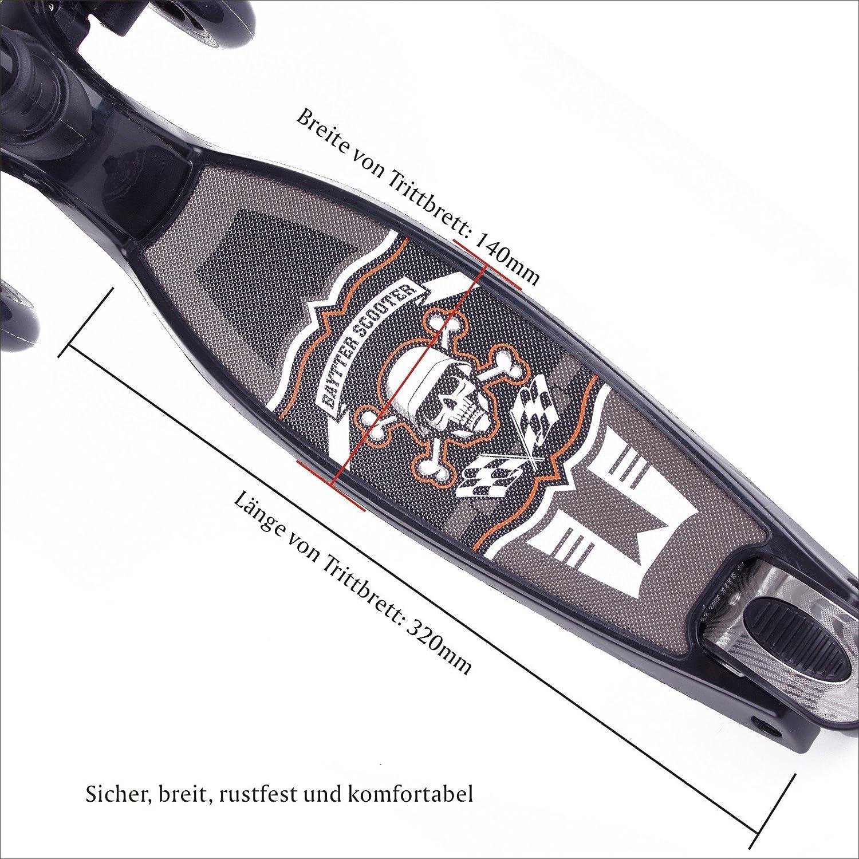 BAYTTER Kinderscooter Dreirad mit verstellbarem Lenker Kinderroller Roller Scooter f/ür Kinder ab 3 4 5 Jahren bis 75kg belastbar
