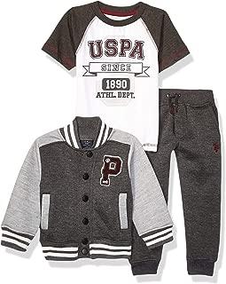 Boys' 3 Piece Fleece Jacket, Short Sleeve Tee and Pant Set