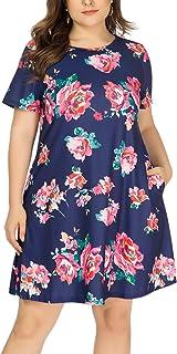 HBEYYTO Women's Plus Size Short Sleeve Loose Dress Casual...