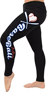 Kaysees Women's Baseball Mom Foldover Leggings
