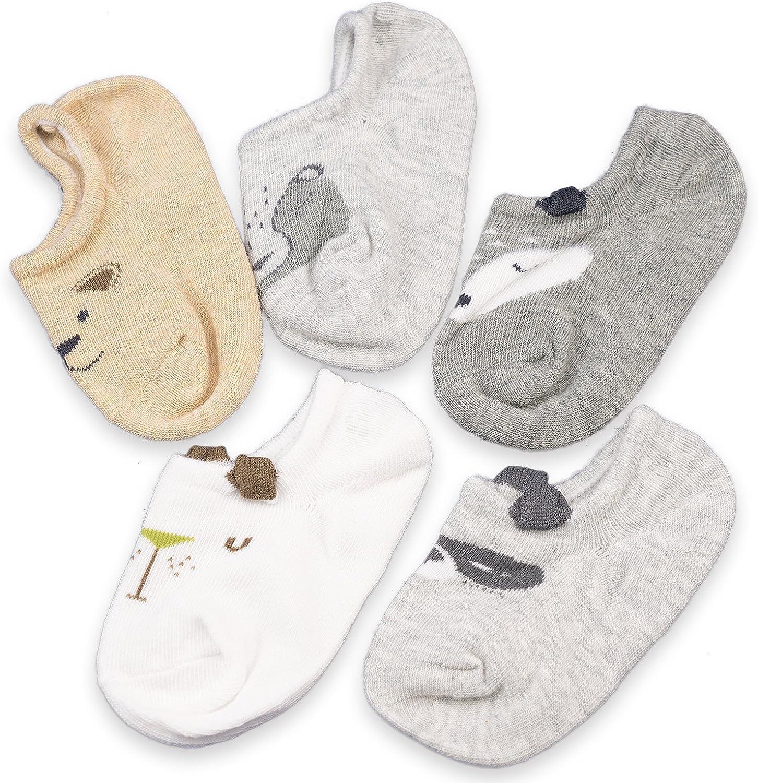 CoCoCute Baby Infant Socks 5 Pack Kids Socks Toddlers Socks Girls Boys Cotton Socks