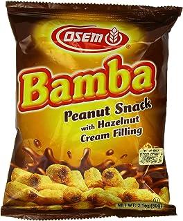 Bamba Hazelnut Cream Peanut Butter Snacks All Natural Peanut Butter PB Corn Puffs, 2.1oz Bag (Pack of 18)