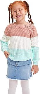 DeFacto Maglione da bambina con scollo a V, 100% poliacrilico, per abbigliamento occasionale, luce e traspirante, per magl...
