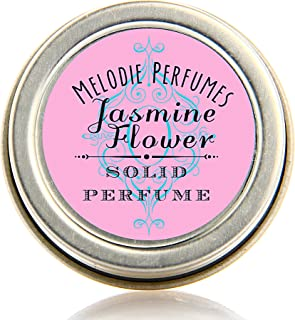 Melodie Perfumes Jasmine Solid perfume. Vegan Natural perfume for women.50 oz tin