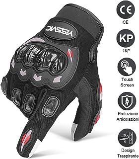 Tuopuda Guanti Moto Guanti da Moto Full-Dita Guanti di Protezione per Moto Bici Motocross Bicicletta Sport 1 pair