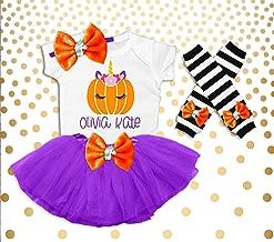 Girl's Halloween Outfit Girl's Halloween Costume Halloween Pumpkin Shirt Halloween Pumpkin Patch Outfit Toddler Girls Pumpkin Unicorn
