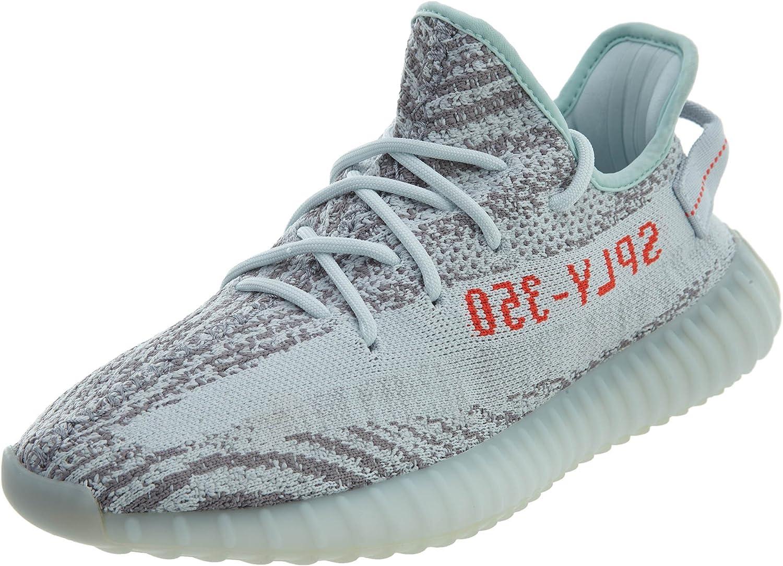 Amazon.com | adidas BB1826 Men Yeezy Boost 350 V2 Grey RED | Road ...
