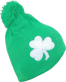 CTM Lucky Three Leaf Clover Knit Beanie Cap