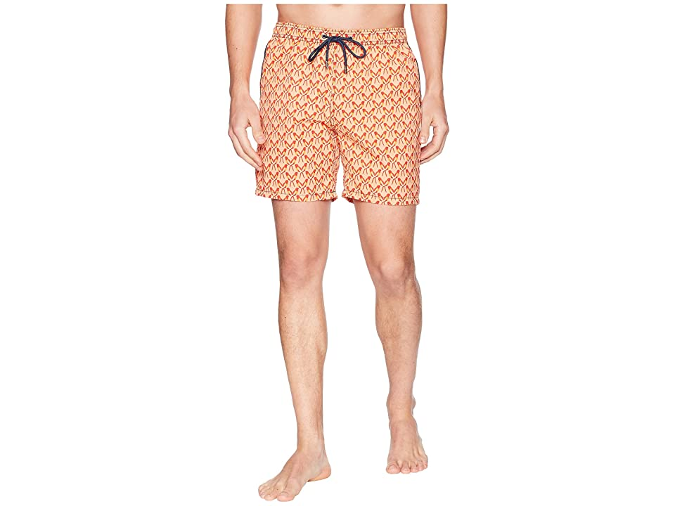 Mr. Swim Parrots Printed Dale Swim Trunks (Peach) Men