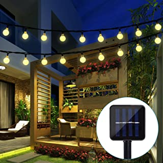 BAOANT Solar String Lights Fairy Lights 20Ft 30 LED Crystal Ball String Lights Starry Lights Globe String Lights for Garden Home Patio Indoor Outdoor(Warm-White)