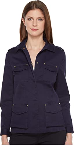 Stretch Jacket with Hardware