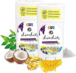 Diadie desodorante kids 2pack. Natural. Libre de Aluminio. Para niños