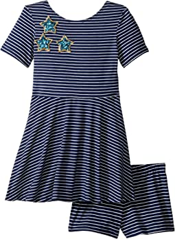 Play Skater Stripe Stars Dress (Toddler/Little Kids)