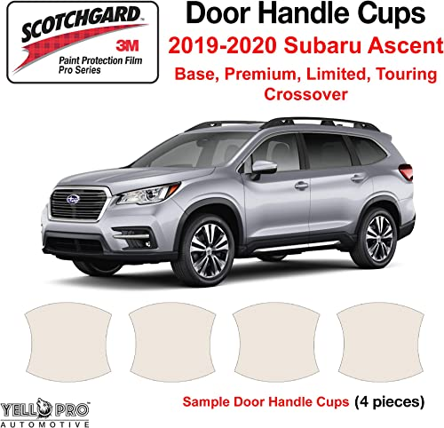 lowest YelloPro Custom new arrival Fit Door Handle Cup 3M Scotchgard Anti Scratch online Clear Bra Paint Protector Film Cover Self Healing PPF Guard Kit for 2019 2020 2021 2022 Subaru Ascent Crossover outlet sale