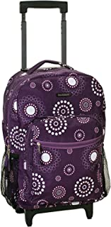 Rockland Luggage 17 Inch Rolling Backpack, Purple Pearl, Medium