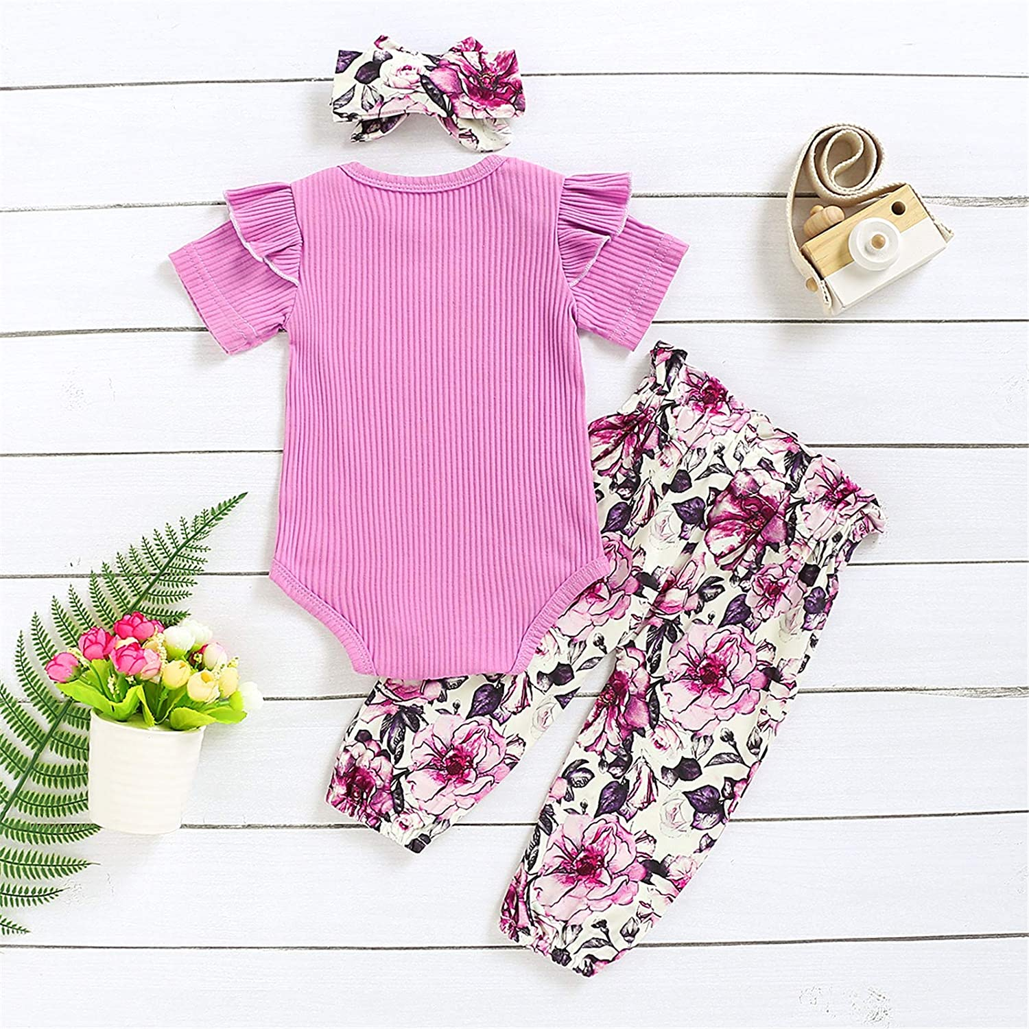 Dimoybabe Newborn Baby Girl Clothes Infant Summer Outfits Cute Short Ruffle Romper