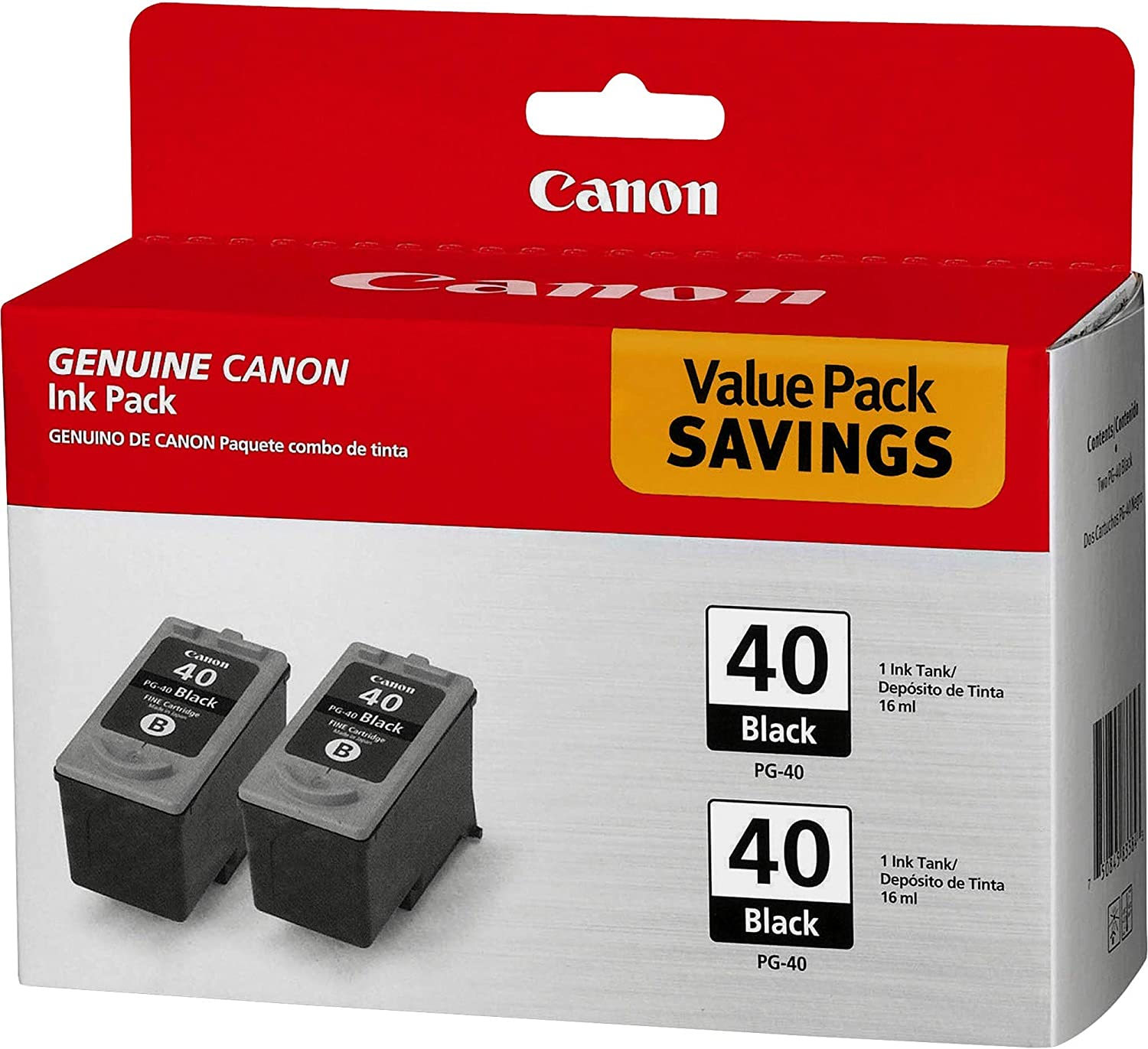 Canon PG-40 Black Twin Pack Compatible to iP2600, iP1800, iP1700, iP1600, MX310, and MX300