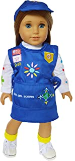 Brittany's My Girl Scouts Embroidered Daisy Outfit Compatible with American Girl Dolls- 18 Inch Doll Clothes