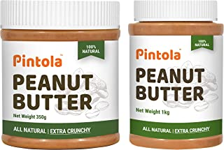 Pintola All Natural Peanut Butter (Extra Crunchy) (Unsweetened) (350g) + Pintola All Natural Peanut Butter (Extra Crunchy)...