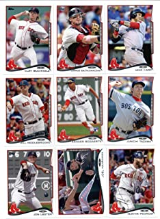 2011, 2012,2013 & 2014 Topps Boston Red Sox Baseball Card Team Sets (Complete Series 1 & 2 From All Four Years) Includes 2013 World Champions Set