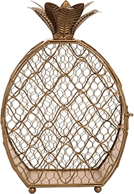 Foreside Home and Garden Pineapple Candle Holder, Gold