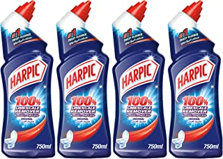 Harpic Toilet Cleaner Liquid Limescale Remover Original, 4 X 750 ml