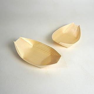 使い捨て 経木の舟皿 50枚セット 5寸 約14x8.5×3.5cm サイズをご確認後、ご購入ください。