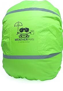 Weatherman, verde copertura, protezione anti-pioggia, per zaini, zainetto, cartella I stagna, colore fluorescente, con ela...