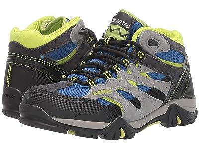 Hi-Tec Kids Ravus Mid Waterproof (Toddler/Little Kid/Big Kid) (Charcoal/Cobalt/Limoncello) Kids Shoes