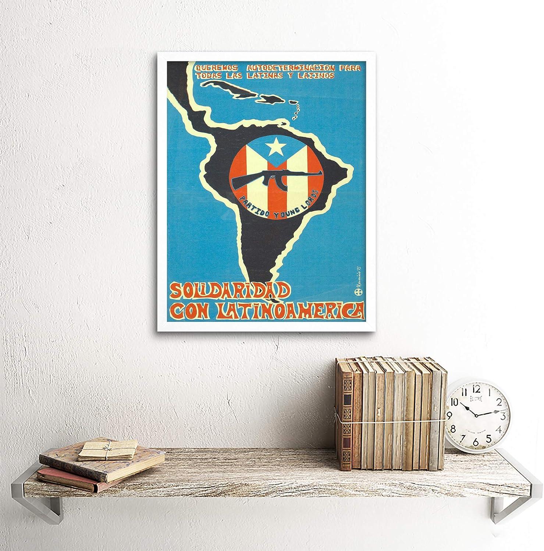 Determination Latin America Cuba Revolution 12X16 Inch Framed Art Print
